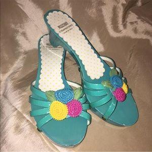 Moschino Cheap Chic Open Toe Sandals Wooden SZ 5